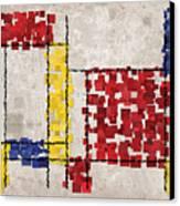 Mondrian Inspired Squares Canvas Print by Michael Tompsett