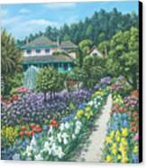 Monet's Garden Giverny Canvas Print by Richard Harpum