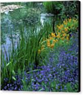 Monet's Lily Pond Canvas Print by Kathy Yates