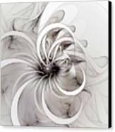Monochrome Flower Canvas Print by Amanda Moore