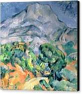 Mont Sainte Victoire Canvas Print by Paul Cezanne