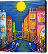 Moonlit Venice Canvas Print by Lisa  Lorenz