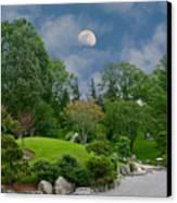 Moonrise Meditation Canvas Print by Charles Warren