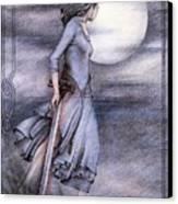 Morgan Le Fay Canvas Print by Johanna Pieterman