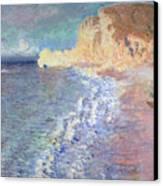 Morning At Etretat Canvas Print by Claude Monet