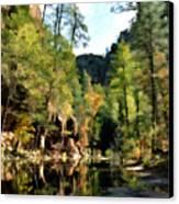 Morning At Oak Creek Arizona Canvas Print by Kurt Van Wagner