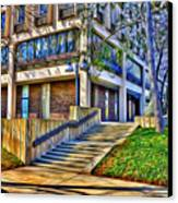 Morning Before Business Canvas Print by Stephen Younts