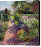 Morning Break In The Garden Canvas Print by Timothy Easton