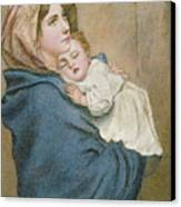 Mother And Child Canvas Print by English School