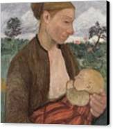Mother And Child Canvas Print by Paula Modersohn Becker