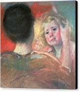 Mother Combing Sara's Hair  Canvas Print by Mary Stevenson Cassatt