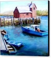 Motif One Rockport Harbor Canvas Print by Jack Skinner