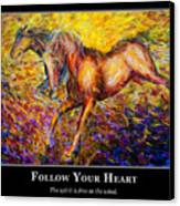 Motivational Horsea Canvas Print by Nik Helbig