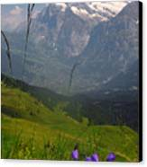 Mount Wetterhorn And The Grindelwald Canvas Print by Anne Keiser