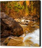 Mountain Stream In Autumn Canvas Print by Utah Images