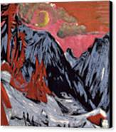 Mountains In Winter Canvas Print by Ernst Ludwig Kirchner