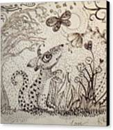 Mouse Canvas Print by Kathleen Raven