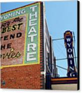 Movie Sign 1 Canvas Print by Marilyn Hunt