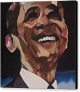 Mr. Obama Canvas Print by Chelsea VanHook