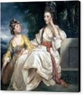 Mrs Thrale And Her Daughter Hester Canvas Print by Sir Joshua Reynolds