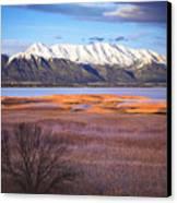 Mt. Timpanogos And Utah Lake Canvas Print by Utah Images