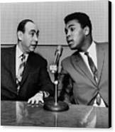 Muhammed Ali And Howard Cosell Canvas Print by Everett