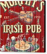 Murphy's Irish Pub - Sonoma California - 5d19290 Canvas Print by Wingsdomain Art and Photography