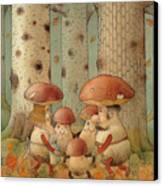 Mushrooms Canvas Print by Kestutis Kasparavicius