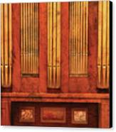 Music - Organist - Skippack  Ville Organ - 1835 Canvas Print by Mike Savad