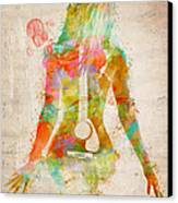 Music Was My First Love Canvas Print by Nikki Marie Smith