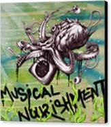 Musical Nourishment Canvas Print by Tai Taeoalii