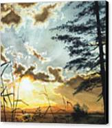 Muskoka Dawn Canvas Print by Hanne Lore Koehler
