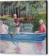 Musky Madness Canvas Print by Marilyn Smith