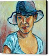 My First Self-portrait Canvas Print by Xueling Zou