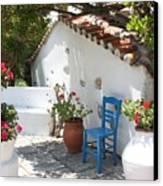 My Greek Garden Canvas Print by Yvonne Ayoub