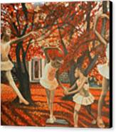 My Spirit Rises In Fall Canvas Print by Amira Najah Whitfield