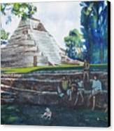 Myan Temple Canvas Print by Howard Stroman