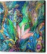 Mysterious Visitor Canvas Print by Elena Kotliarker