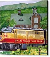 Napa Wine Train Canvas Print by Gail Chandler