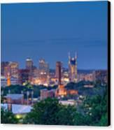 Nashville By Night 1 Canvas Print by Douglas Barnett