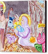 Nativity Canvas Print by Jame Hayes