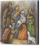 Nativity Canvas Print by Walter Lynn Mosley