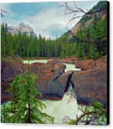 Natural Bridge Canvas Print by Crystal Garner