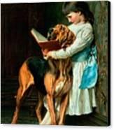 Naughty Boy Or Compulsory Education Canvas Print by Briton Riviere
