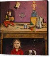 Naughty Child Canvas Print by Leah Saulnier The Painting Maniac