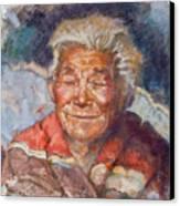 Navaho Wisdom Canvas Print by Ellen Dreibelbis