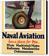 Naval Aviation Has A Place For You Canvas Print by War Is Hell Store