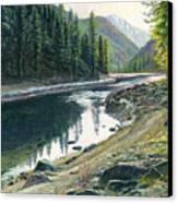 Near Horse Creek Canvas Print by Steve Spencer