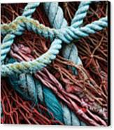 Nets And Knots Number Six Canvas Print by Elena Nosyreva