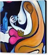 Never Tear Us Apart Canvas Print by Valerie Vescovi
